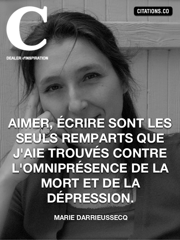 Citation de Marie Darrieussecq