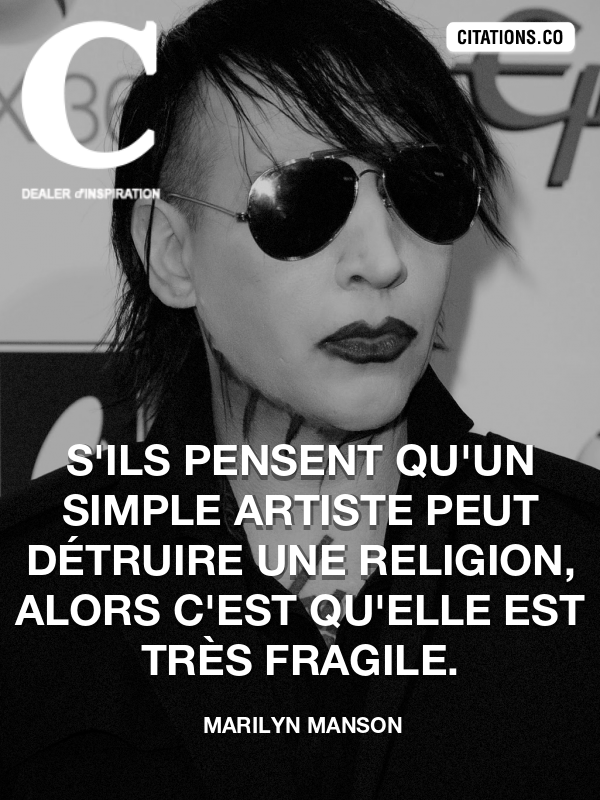 Citation de Marilyn Manson