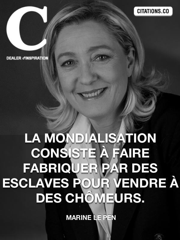 Citation de Marine Le Pen