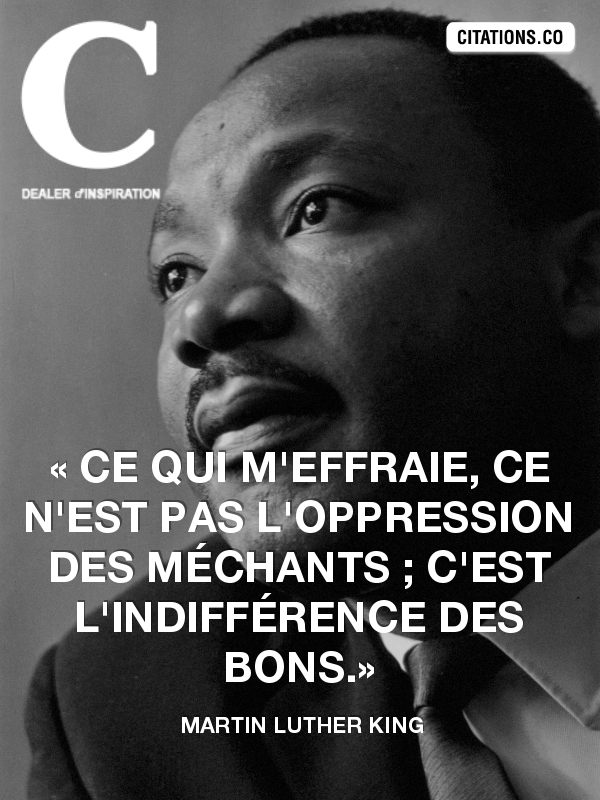Citation de Martin Luther King