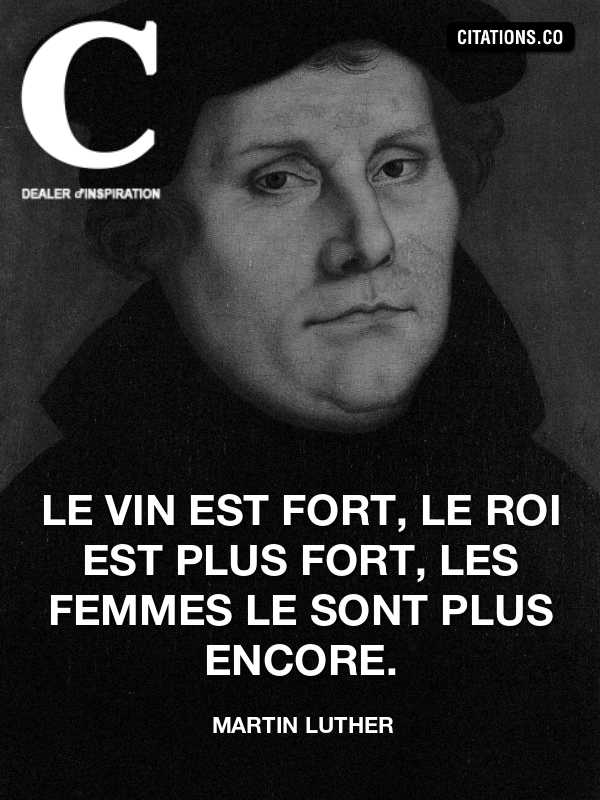 Citation de Martin Luther