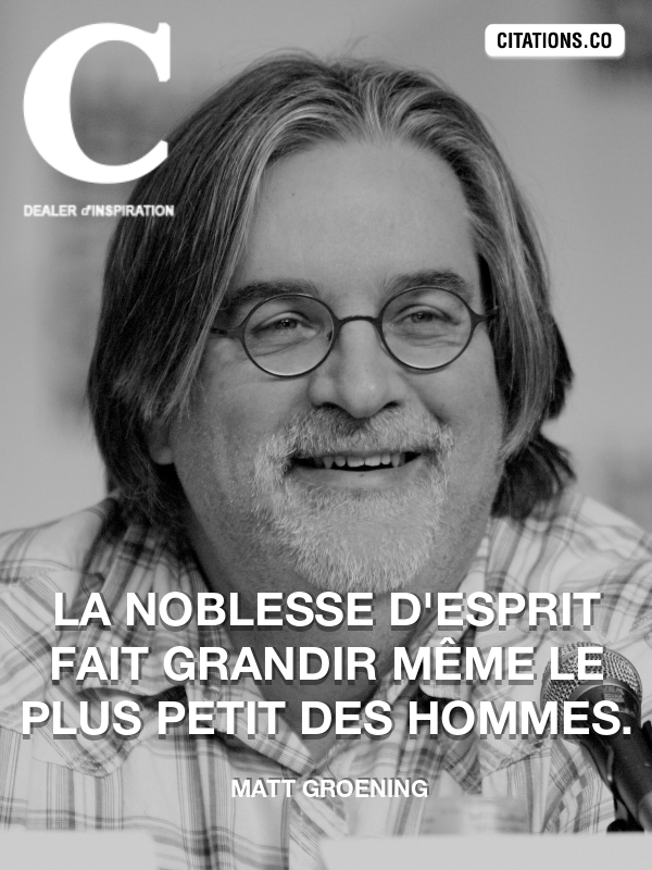 Citation de Matt Groening