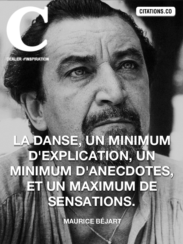 Citation de Maurice Béjart