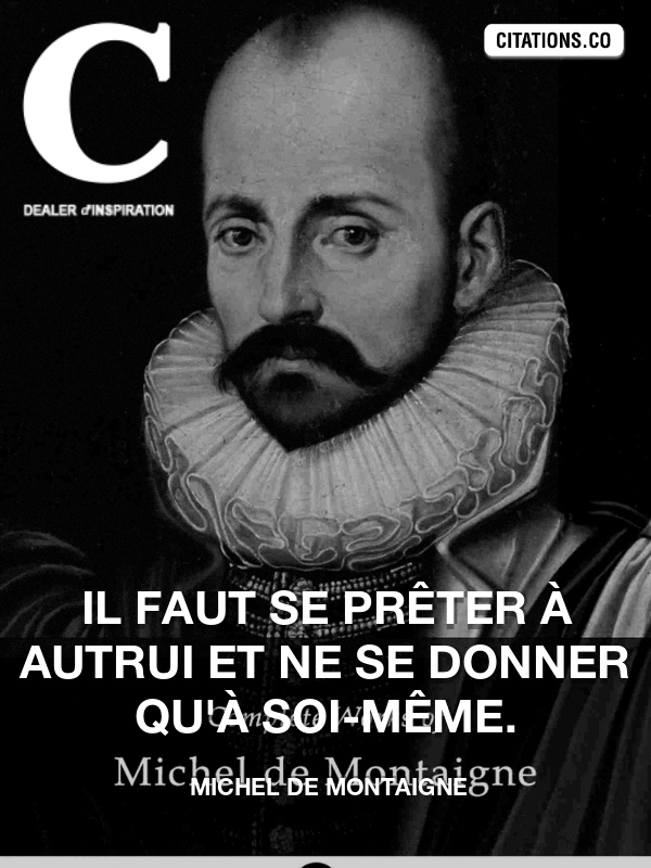 Citation de Michel De Montaigne-5a6b5e91dc06a