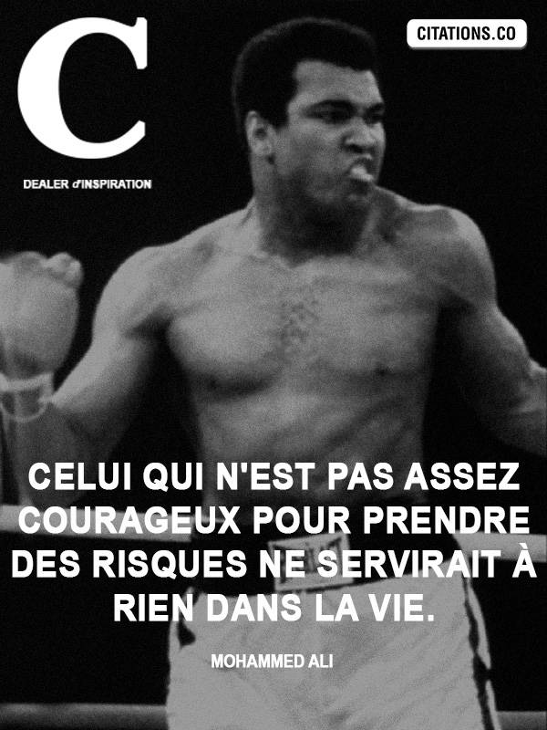 Citation de Mohammed Ali