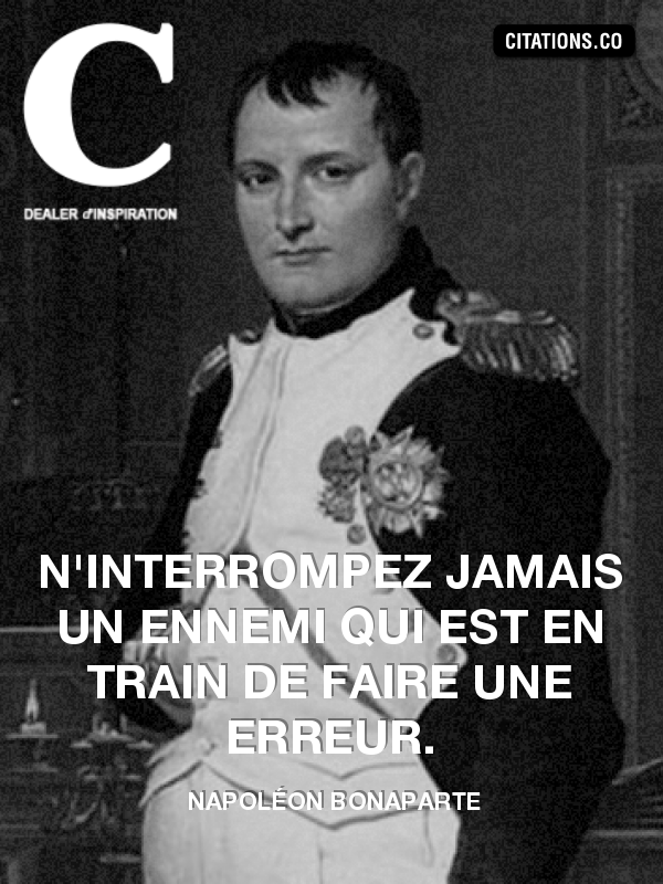 Citation de Napoléon Bonaparte