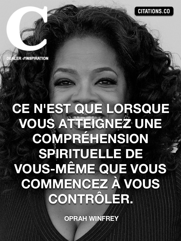 Citation de Oprah Winfrey