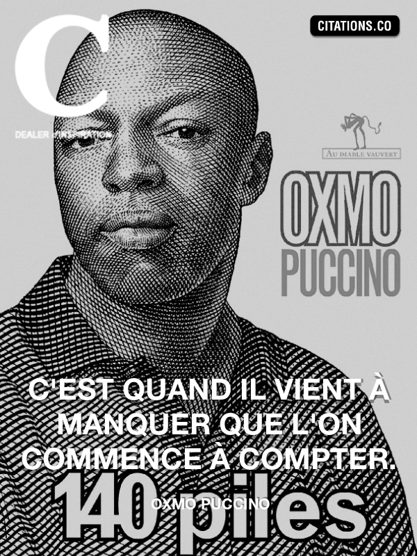 Citation de OXMO PUCCINO