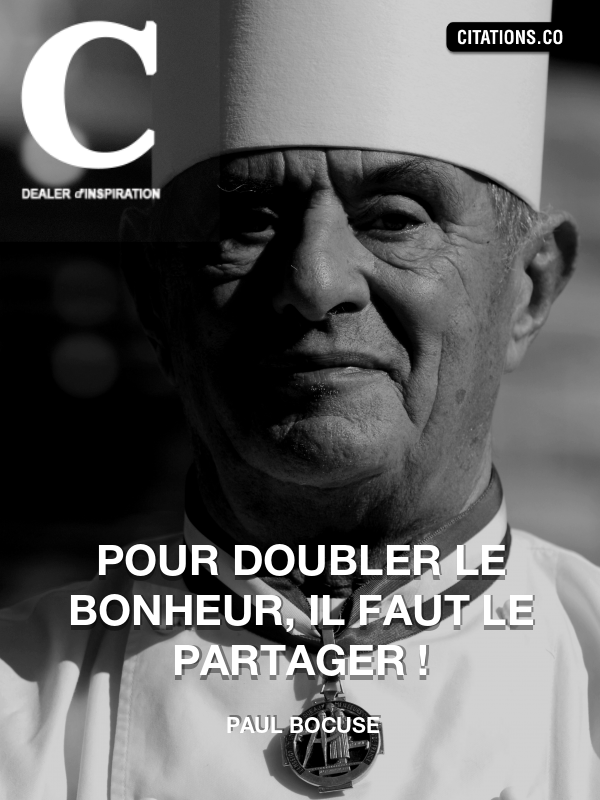 Citation de Paul Bocuse
