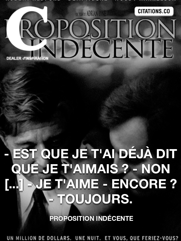 Citation de Proposition Indécente