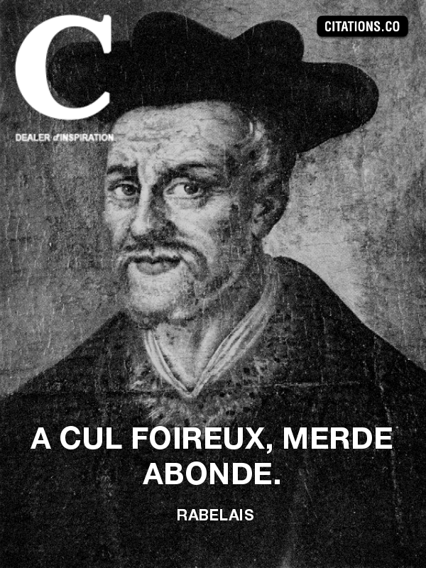 Citation de Rabelais