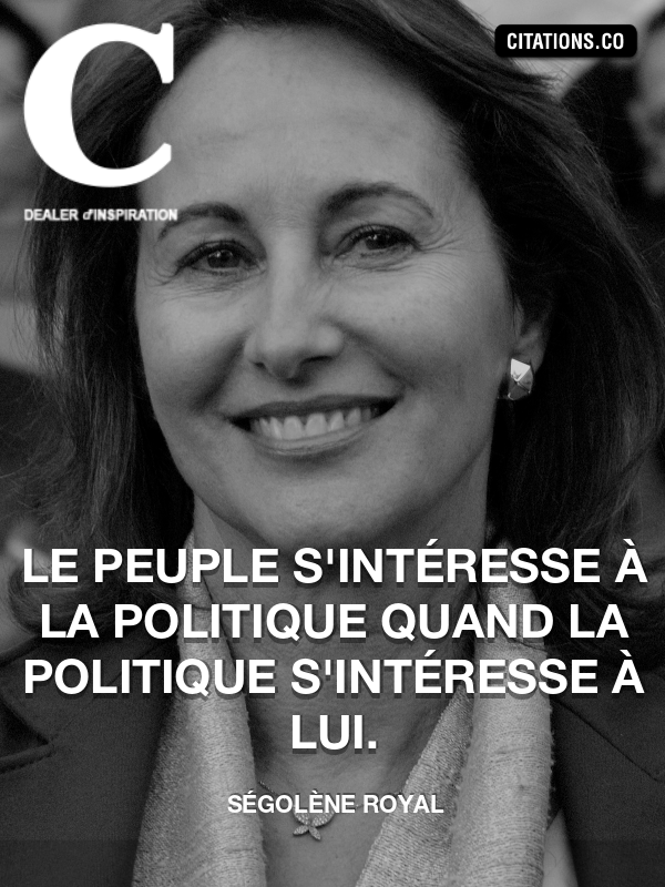 Citation de Ségolène Royal