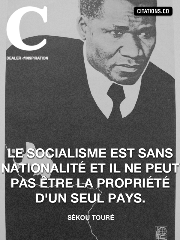 Citation de Sékou Touré