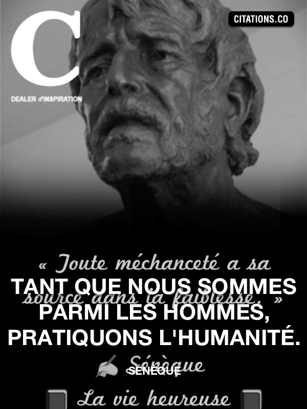 Citation de Sénèque
