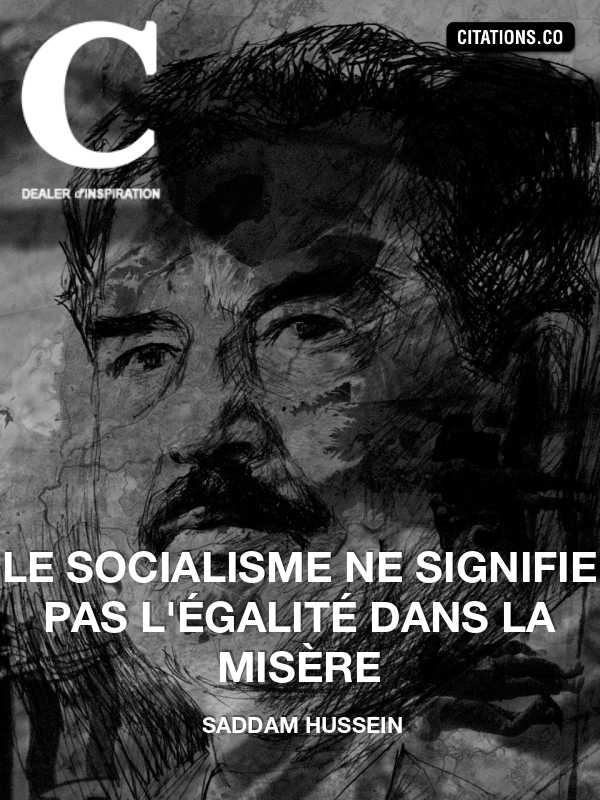 Citation de Saddam Hussein