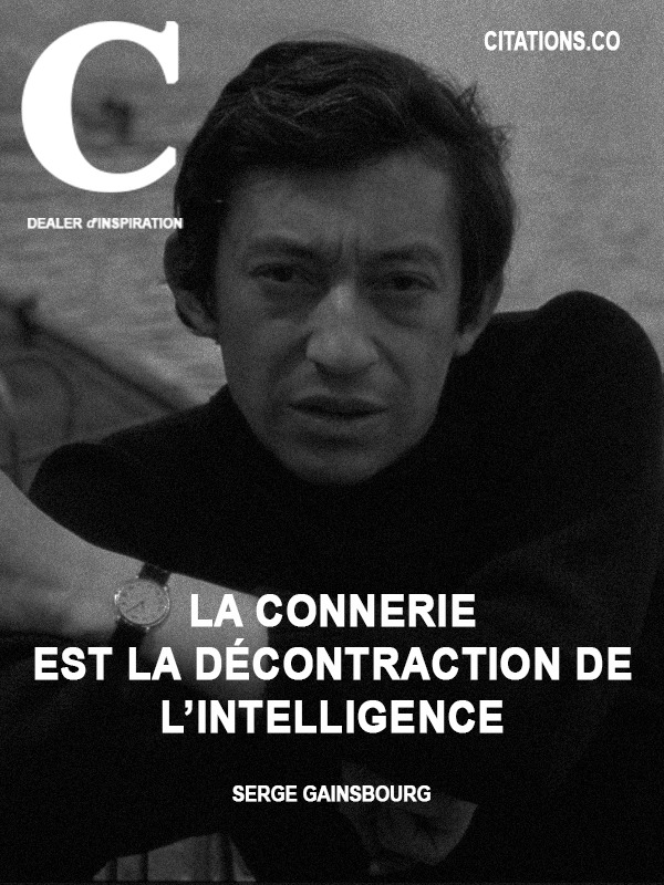 Citation de Serge Gainsbourg