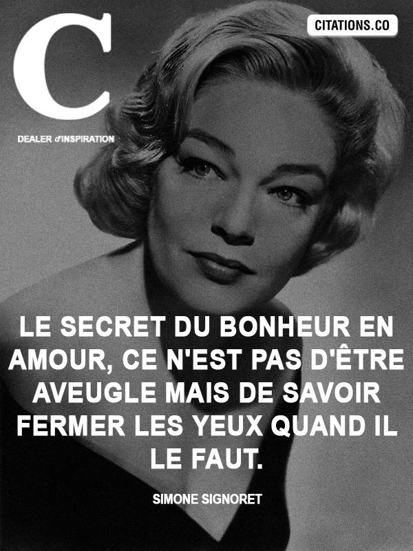 Citation de Simone Signoret