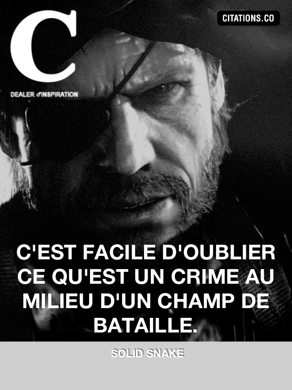 Citation de Solid Snake-14547060