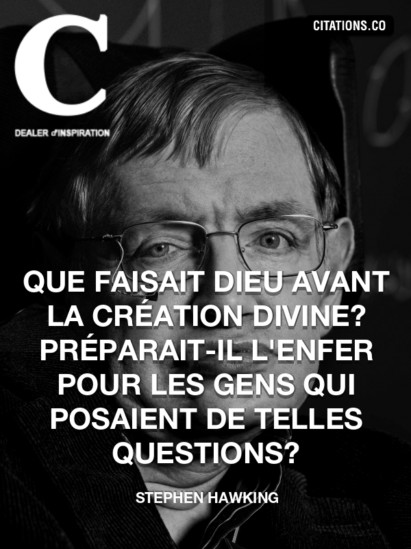 Citation de Stephen Hawking