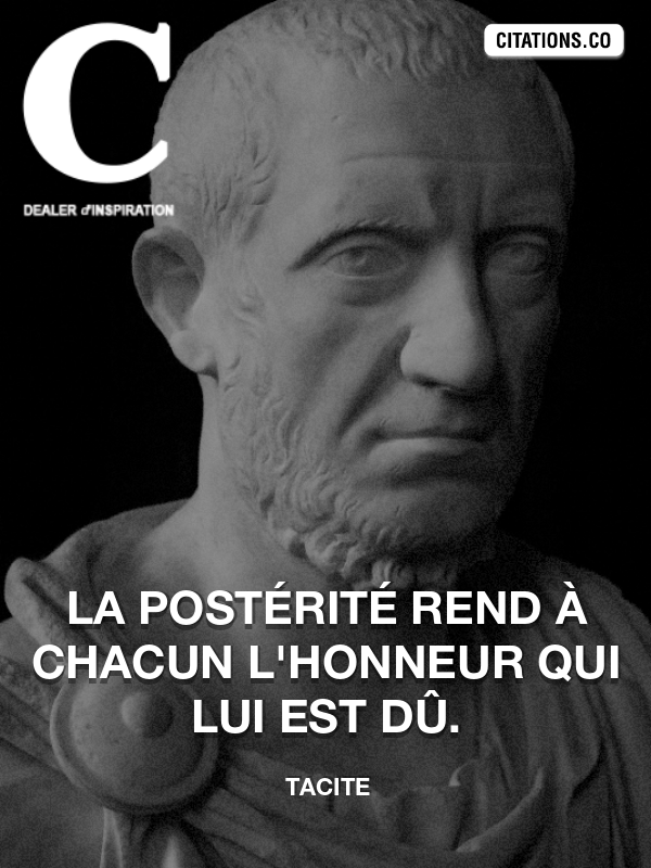 Citation de Tacite