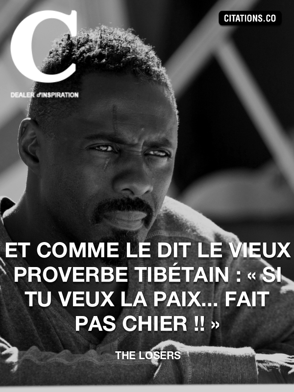Citation de The Losers