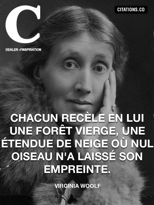 Citation de Virginia Woolf