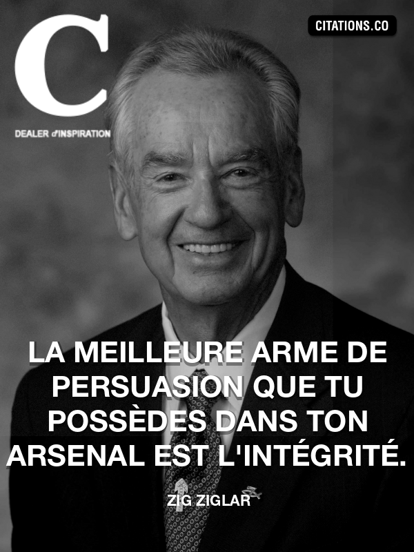 Citation de Zig Ziglar