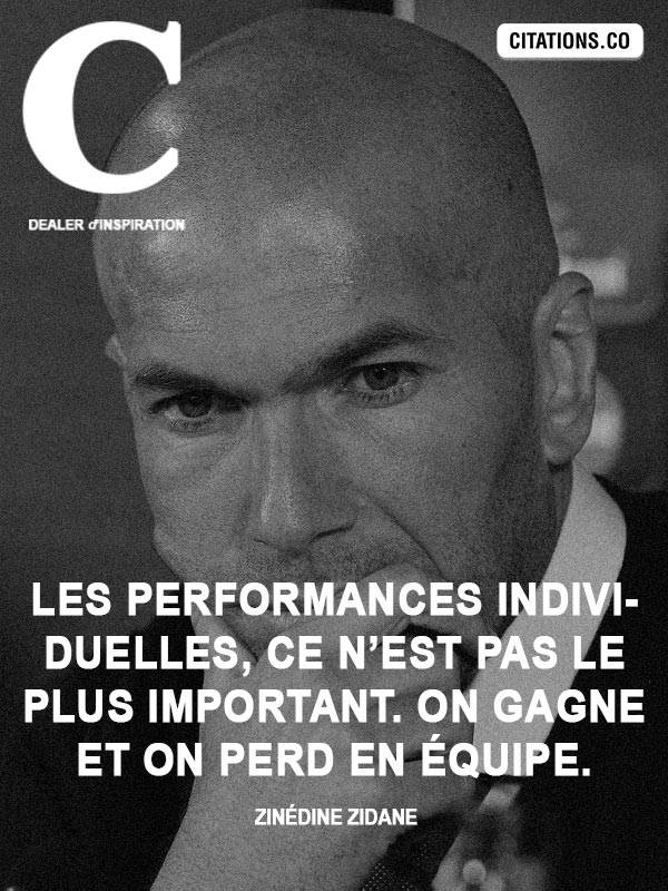 Citation de Zinedine Zidane
