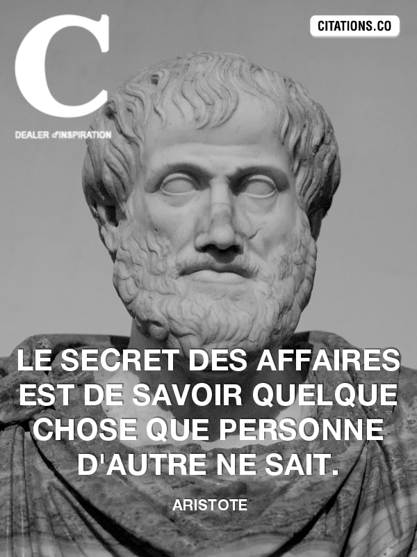 Citation de Aristote
