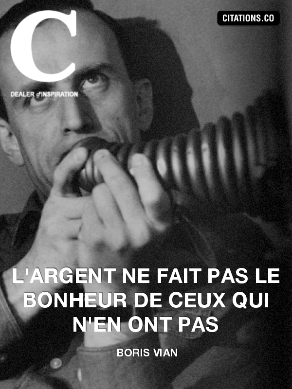 Citation de Boris Vian