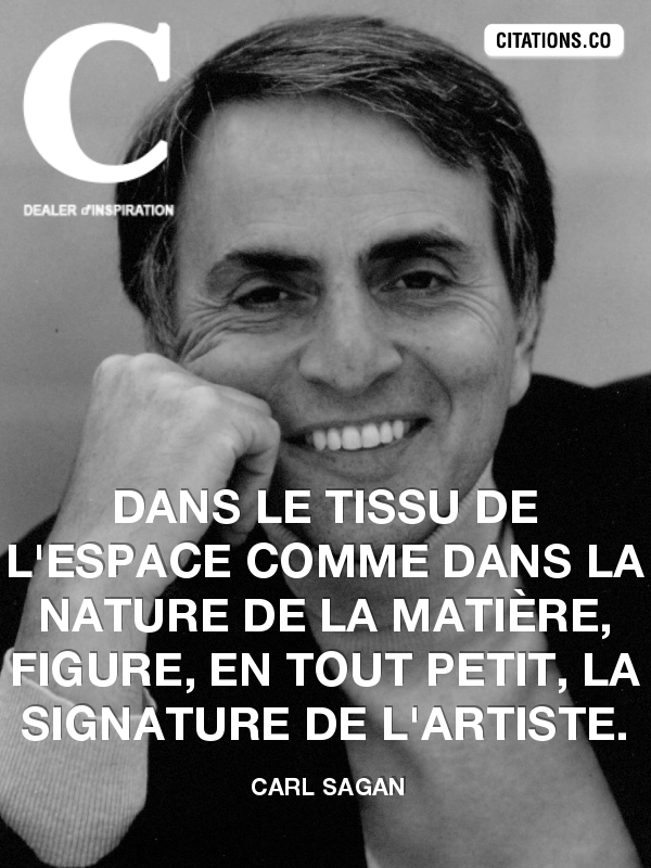 Citation de carl sagan