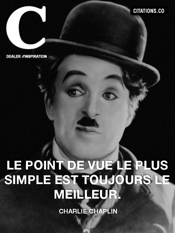 Citation de Charlie Chaplin