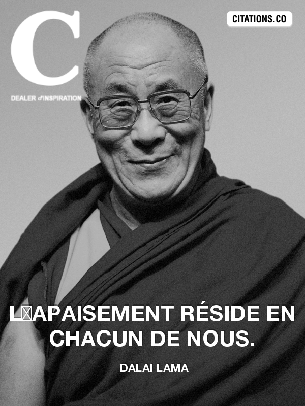 Citation de Dalaï Lama