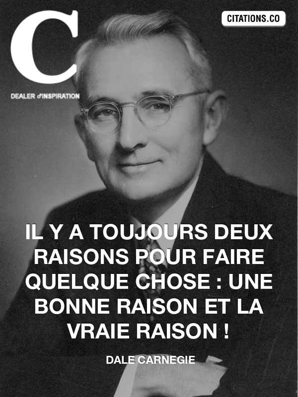 Citation de dale carnegie