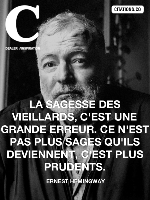 Citation de ernest hemingway