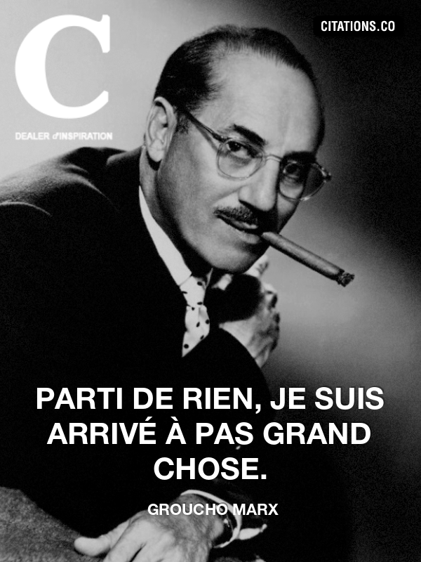 Citation de groucho marx-9540213