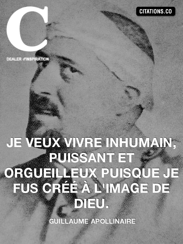 Citation de guillaume apollinaire