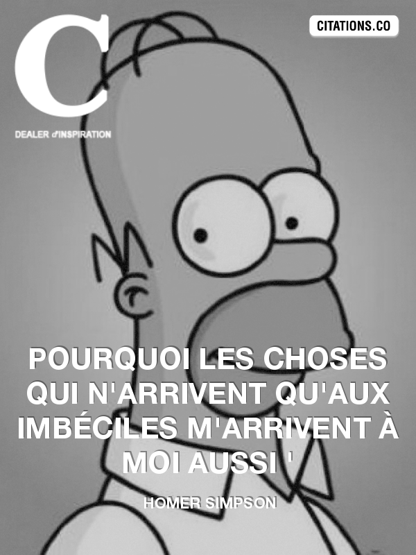Citation de Homer Simpson