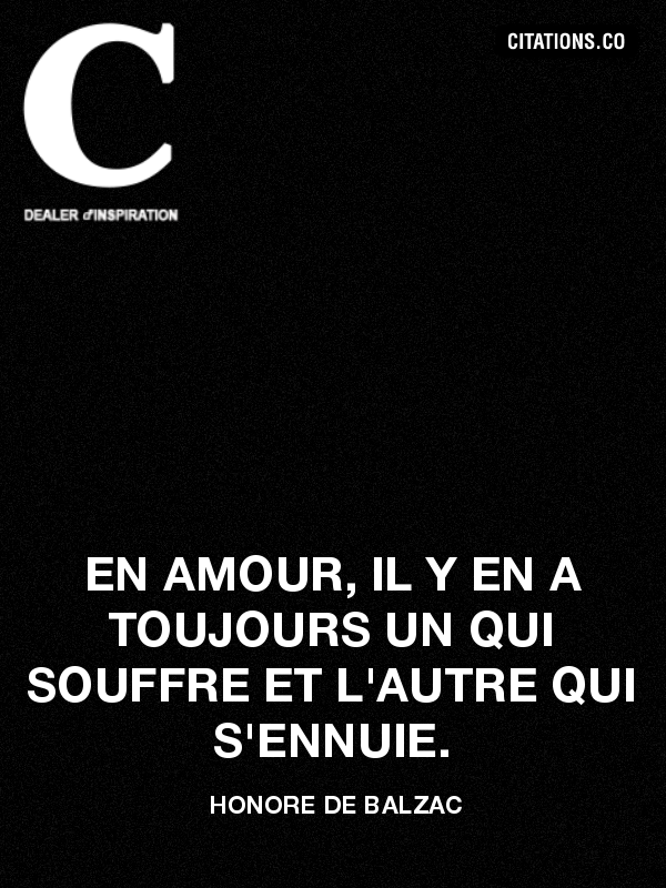 Citation de honore de balzac