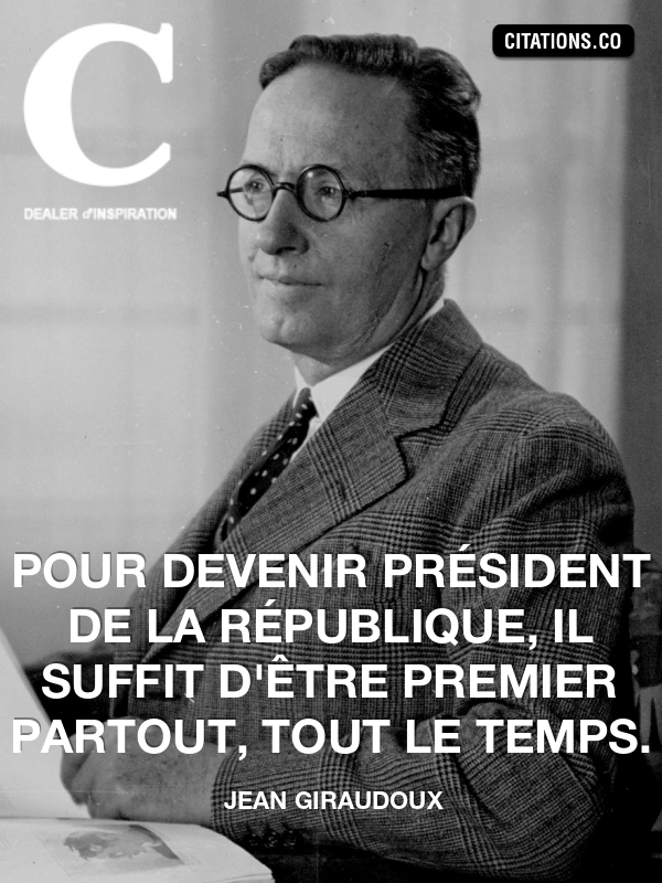 Citation de jean giraudoux