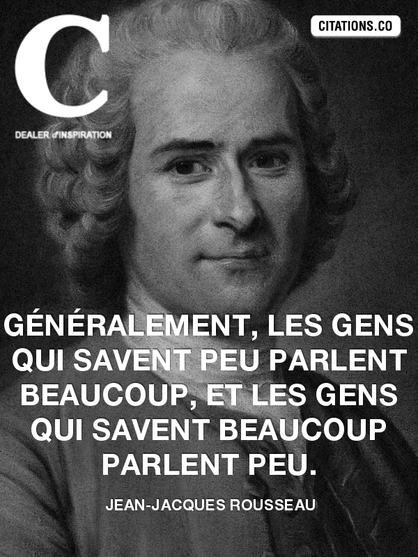 Citation de Jean-Jacques Rousseau