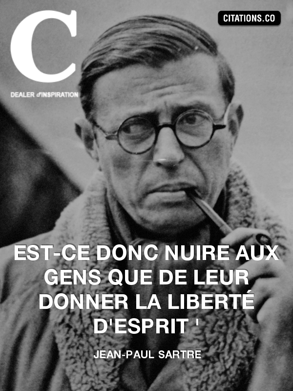 Citation de jean-paul sartre