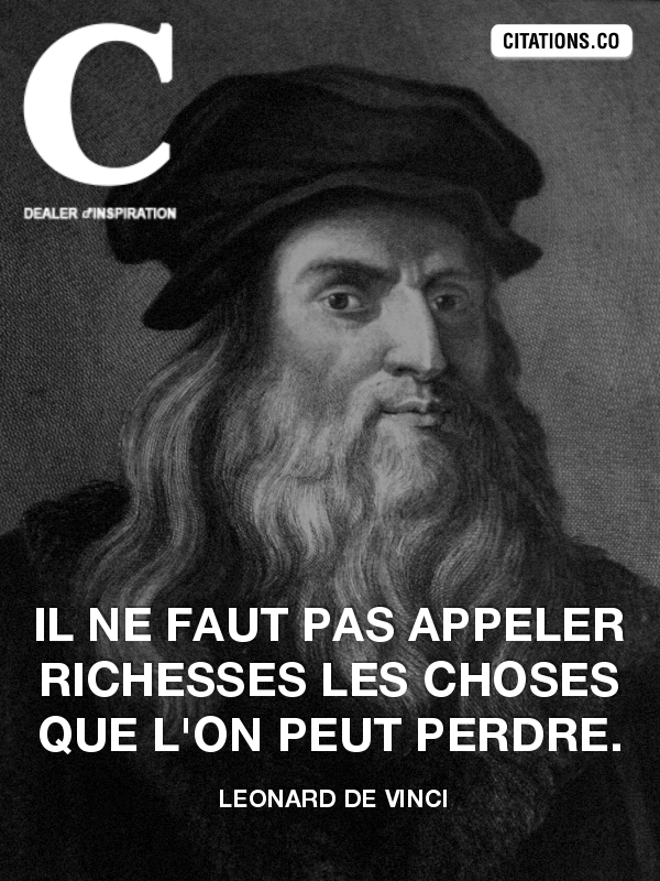 Citation de leonard de vinci
