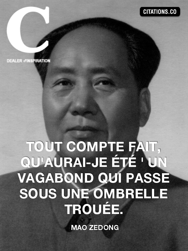 Citation de mao zedong