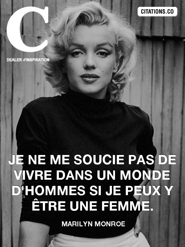 Citation de Marilyn Monroe