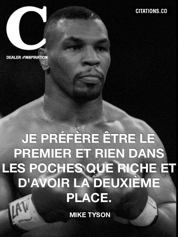 Citation de mike tyson
