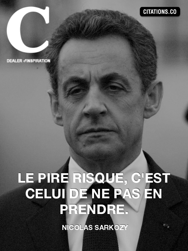 Citation de Nicolas Sarkozy