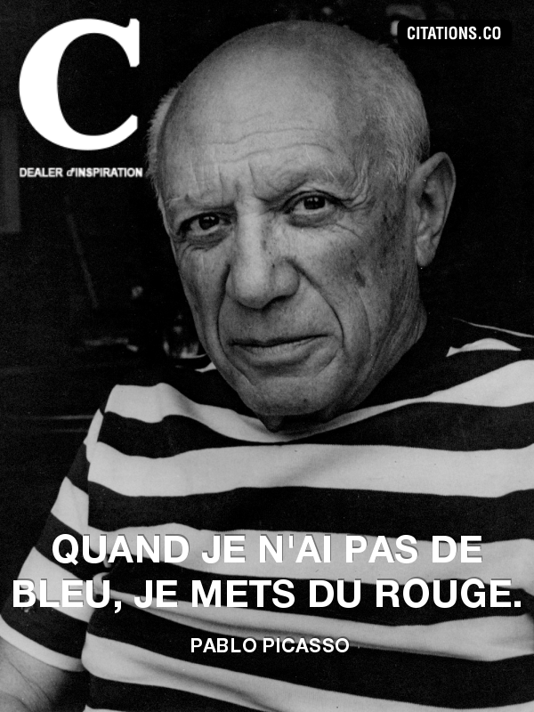 Citation de pablo picasso-390663