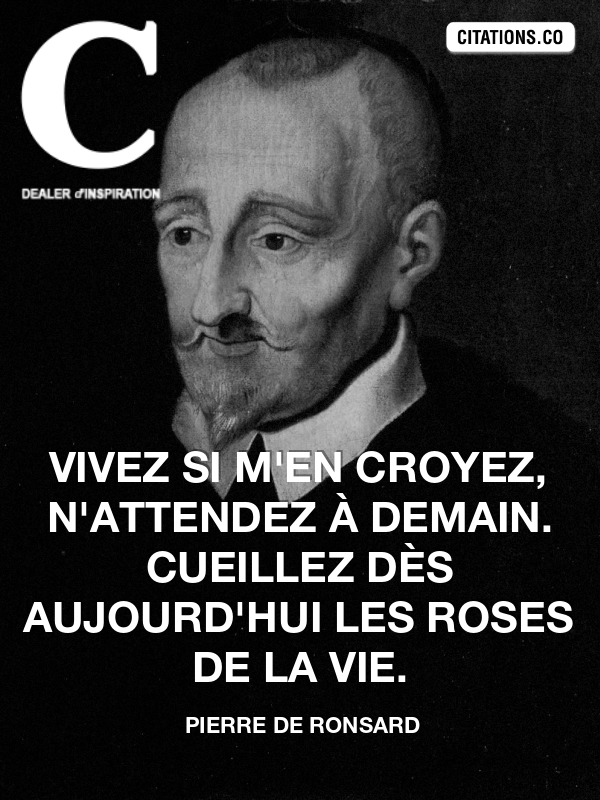 Citation de pierre de ronsard-4337800