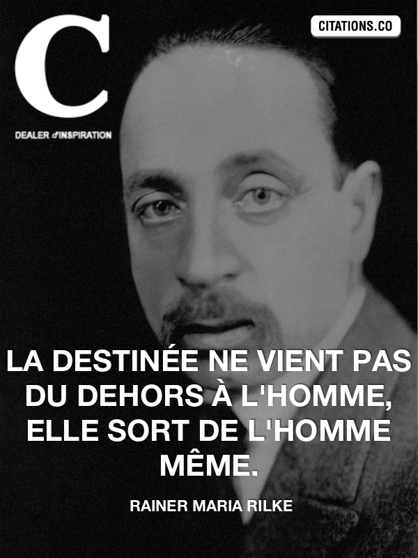 Citation de rainer maria rilke